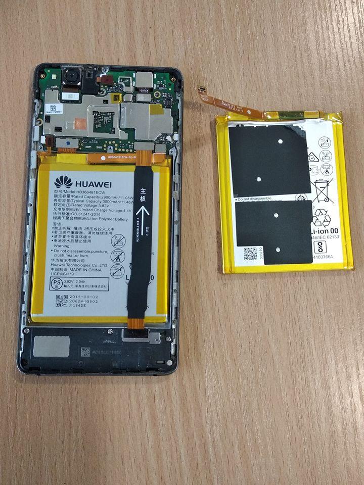 смяна на батерия на Huawei P9 lite